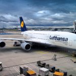 Lufthansa aircraft waiting