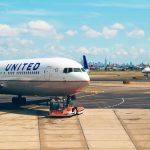 United aircraft city background